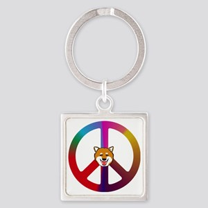 Shiba Peace Square Keychain