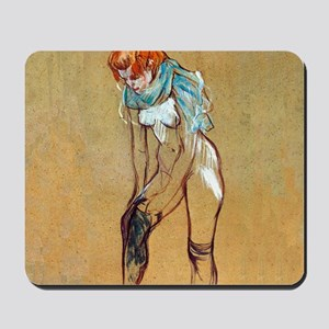 Toulouse-Lautrec Stockings Mousepad