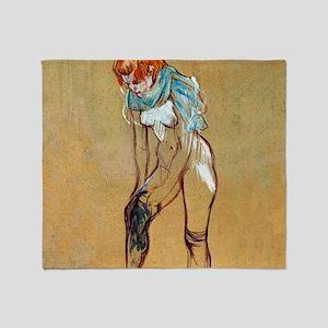 Toulouse-Lautrec Stockings Throw Blanket