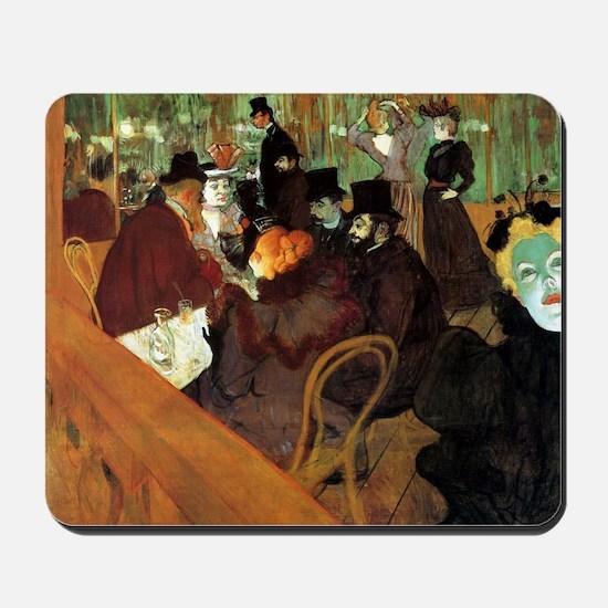 Toulouse-Lautrec At the Moulin Rouge Mousepad