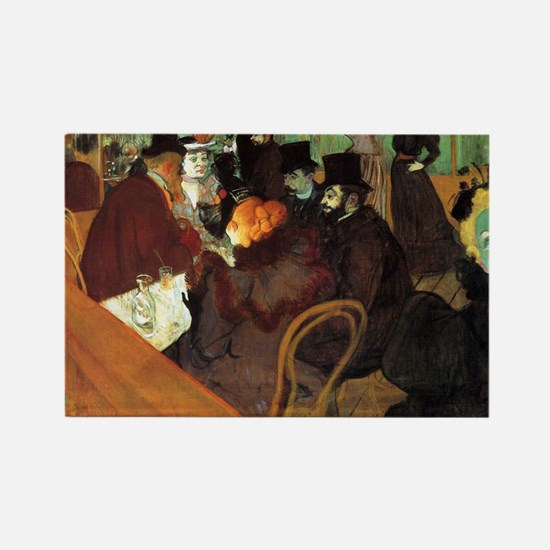 Toulouse-Lautrec At the Moulin Ro Rectangle Magnet