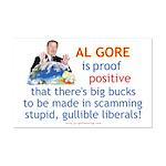 Al Gore & Gullible Libs Mini Poster Print