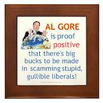 Al Gore & Gullible Libs Framed Tile