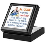 Al Gore & Gullible Libs Keepsake Box