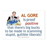 Al Gore & Gullible Libs Postcards (Package of 8)