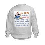 Al Gore & Gullible Libs Kids Sweatshirt