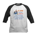 Al Gore & Gullible Libs Kids Baseball Jersey