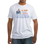 Al Gore & Gullible Libs Fitted T-Shirt
