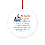 Al Gore & Gullible Libs Ornament (Round)