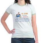 Al Gore & Gullible Libs Jr. Ringer T-Shirt