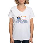 Al Gore & Gullible Libs Women's V-Neck T-Shirt