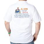 Al Gore & Gullible Libs Golf Shirt