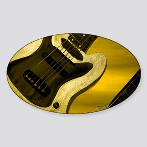 Yellow Tint Abstract Guitar Sticker (Oval)