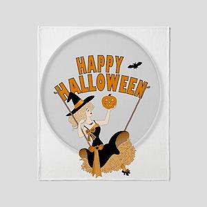 Halloween Witch Throw Blanket