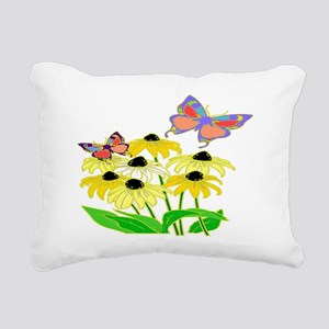 Black-eyed Susans Rectangular Canvas Pillow