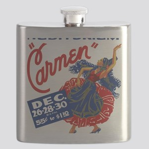 Vintage Carmen Opera Flask