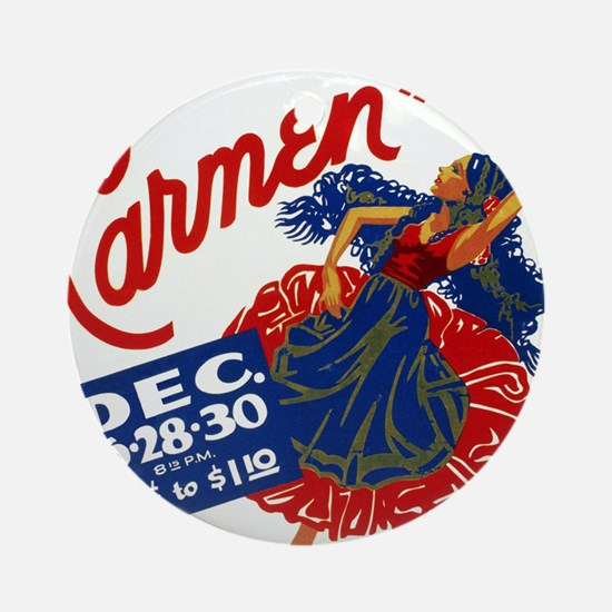 Vintage Carmen Opera Round Ornament
