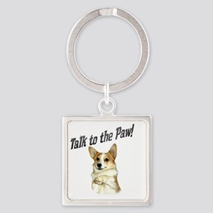 Talk to the Paw! Little Dott Square Keychain