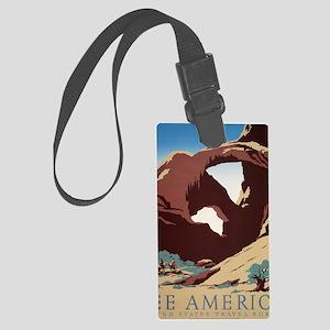 See America Desert Large Luggage Tag