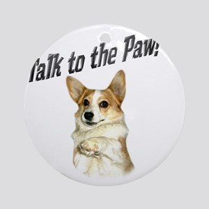 Talk to the Paw! Little Dott Round Ornament