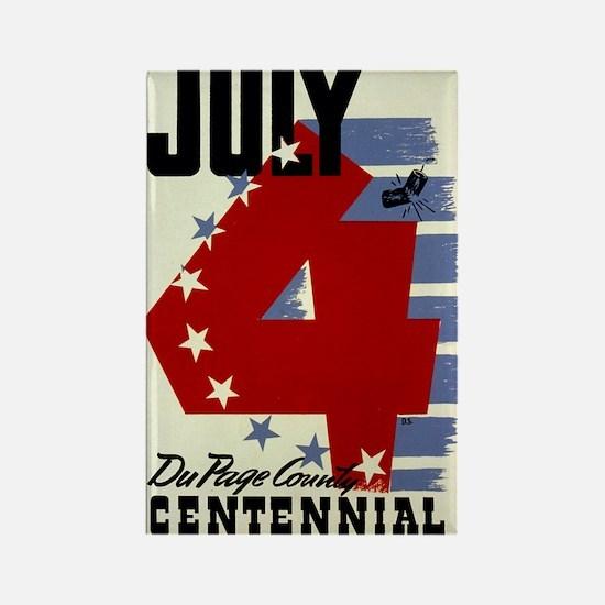 Vintage Fourth of July Rectangle Magnet