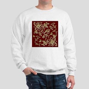 Golden Flowers Sweatshirt