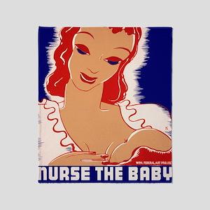 Nurse the Baby Throw Blanket