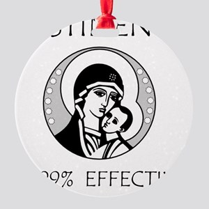 Abstinence Effective Round Ornament