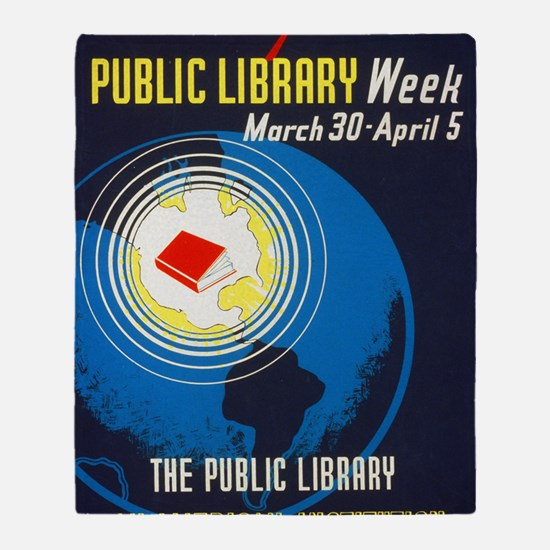Public Library: An American Institut Throw Blanket