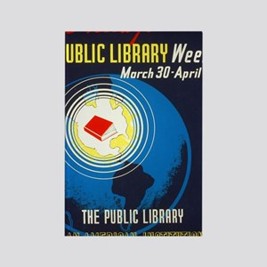 Public Library: An American Insti Rectangle Magnet