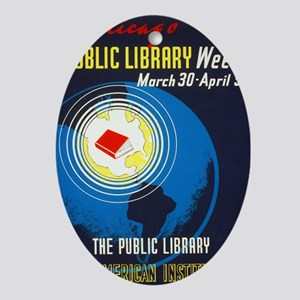 Public Library: An American Institut Oval Ornament