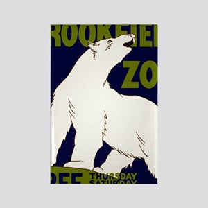 Vintage Visit the Zoo Rectangle Magnet