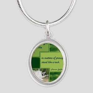 Principle_10 Silver Oval Necklace