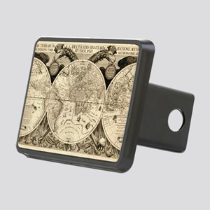 Vintage Old World Map  - 1 Rectangular Hitch Cover