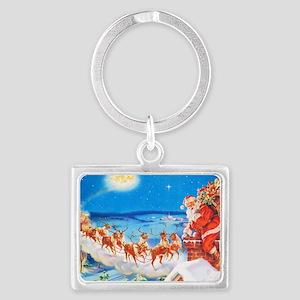 Santa Claus 60_10x14L Landscape Keychain