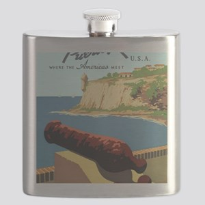 Discover Puerto Rico Flask