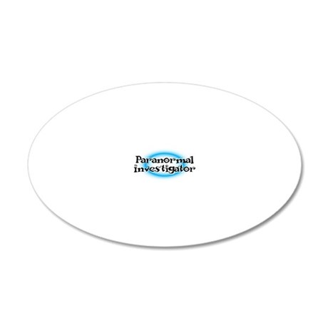 Paranormal investigator 20x12 Oval Wall Decal