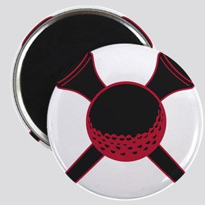 Red and Black Golf Magnet