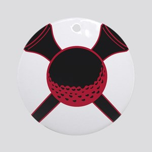 Red and Black Golf Round Ornament