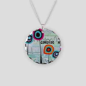 cardiac nurse blanket Necklace Circle Charm