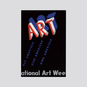 Vintage National Art Week Rectangle Magnet
