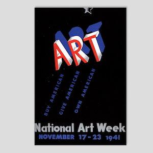 Vintage National Art Week Postcards (Package of 8)