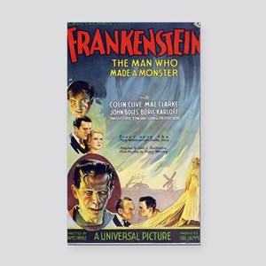 Vintage Frankenstein Horror M Rectangle Car Magnet