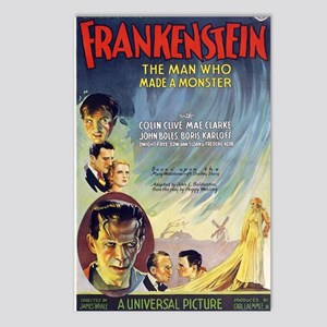 Vintage Frankenstein Horr Postcards (Package of 8)