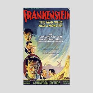 Vintage Frankenstein Horror Mo Sticker (Rectangle)