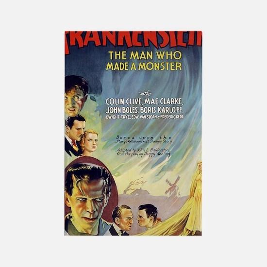 Vintage Frankenstein Horror Movie Rectangle Magnet