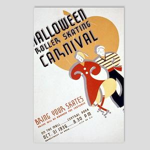 Vintage Halloween Carniva Postcards (Package of 8)