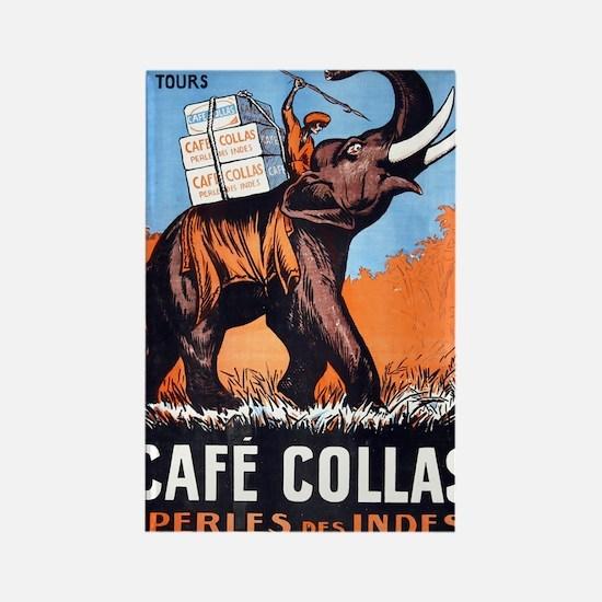 Vintage French Poster Rectangle Magnet
