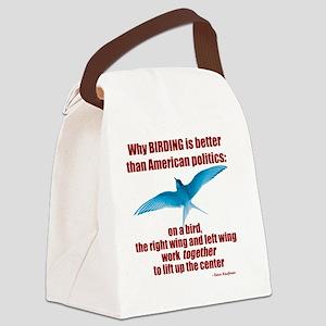 Birding vs. Politics Canvas Lunch Bag