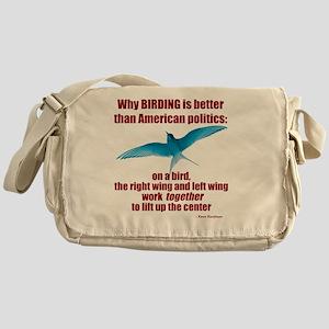 Birding vs. Politics Messenger Bag